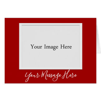 Custom Red Christmas Holiday Photo Frame Card