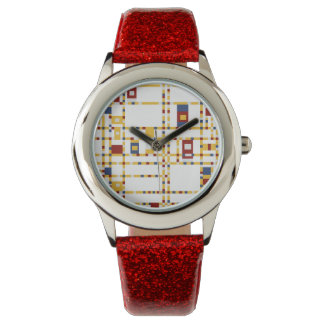Custom Red Glitter Watch