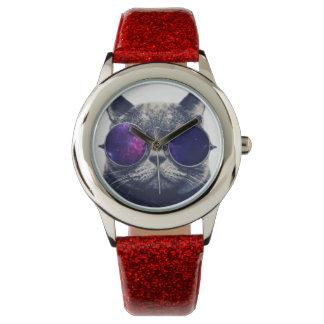 Custom Red Glitter Watch