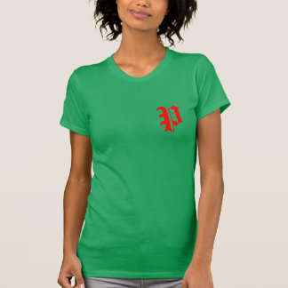 custom red green christmas monogram t-shirt design