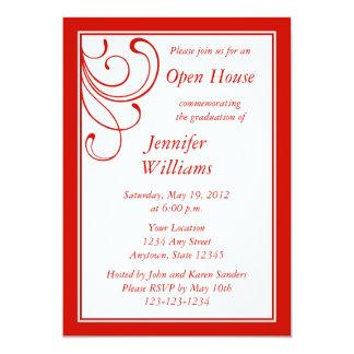 Custom Red Invitation - Elegant Flourish Custom Announcements