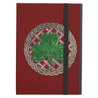 Custom Red Shamrock Celtic Knots iPad Case
