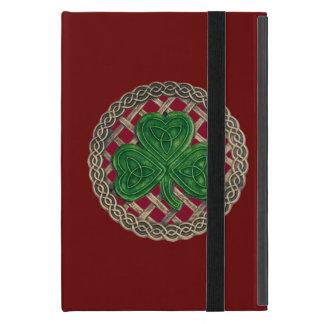 Custom Red Shamrock On Celtic Knots iPad Mini Case