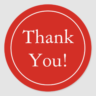 Custom Red Thank You Stickers & Favour Labels