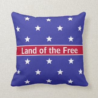 Custom Red White and Blue Patriotic Throw Pillow