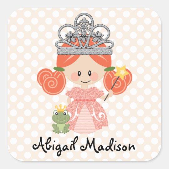 Custom Redhead Princess Frog Sticker