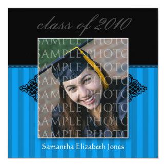 CUSTOM Regal SQUARE Graduation Invitation (blue)