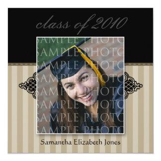CUSTOM Regal SQUARE Graduation Invitation (taupe)