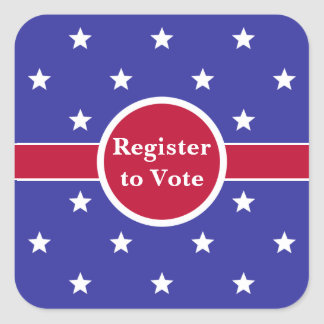 Custom Register to Vote Stickers