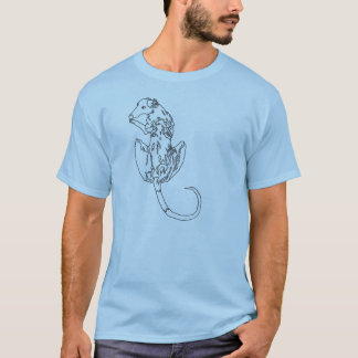 Custom Requested Brenin looking back on blue T-Shirt
