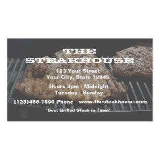(Custom) Restaurant - Steak photo w/transparence Pack Of Standard Business Cards