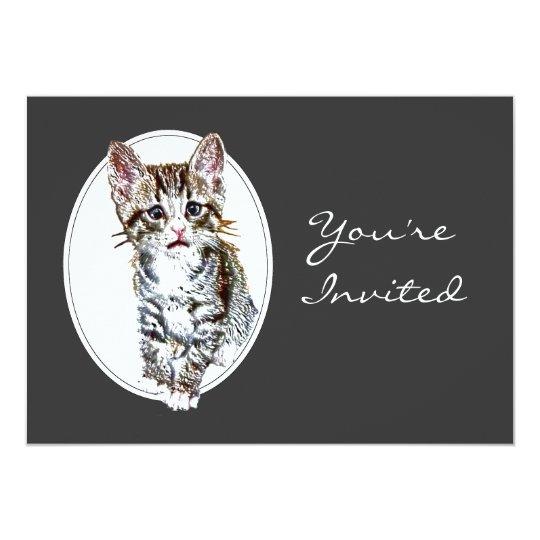 Custom Retirement Invite Sweet Little Kitty Cat