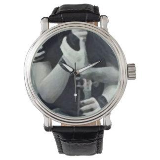 Custom retro clock watch