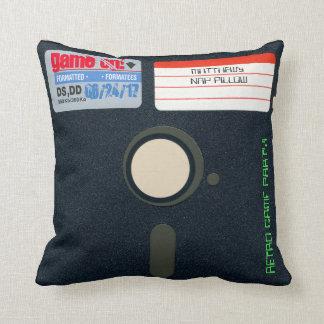 Custom Retro Game Birthday Pillow Floppy Disk 5.25