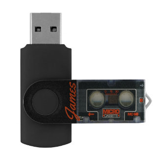 Custom Retro Micro Cassette Audiotape Personalized USB Flash Drive