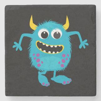 Custom Retro Monster Stone Coaster