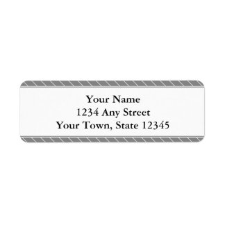 Custom Return Address Label - Grey Stripes