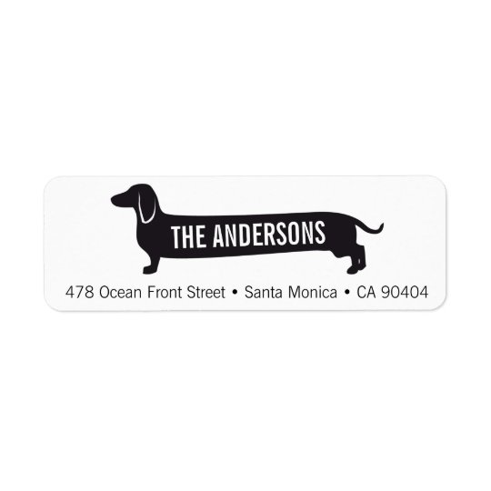 Custom Return Address Label with Wienerdog