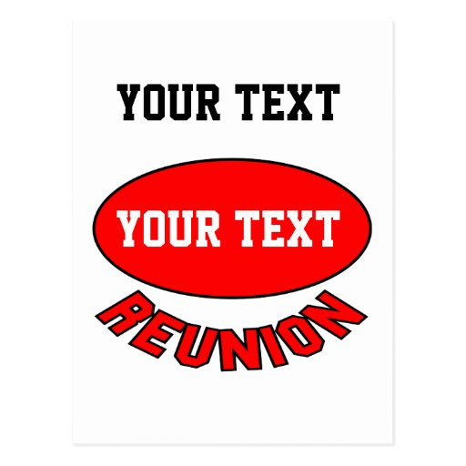 Custom Reunion Items You Can Personalize Postcards