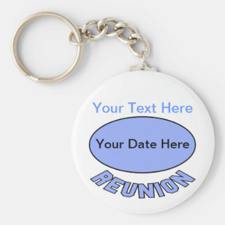 Custom Reunion Keychain You Can Personalize Basic Round Button Keychain