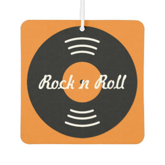 Custom rock and roll record car air fresheners