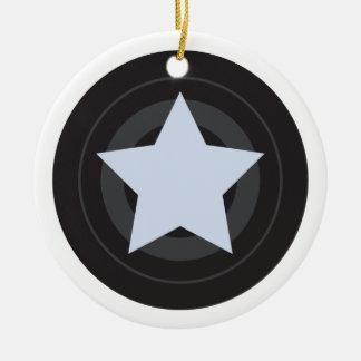 Custom Roller Derby Jammer Star Ceramic Ornament