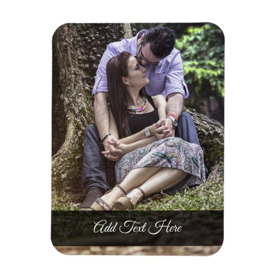 Custom Romantic Memories Couple Photo Magnet
