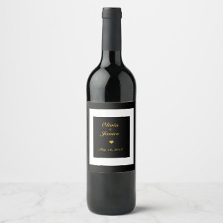 Custom Romantic Save the Date Wine Label
