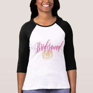 Custom Romantic Swirl Bridesmaid RosePink & Gold T-Shirt