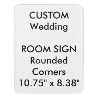"Custom Room Sign - Rounded 8.38"" x 10.75"" Door Sign"