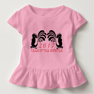 Custom Rooster Year 2017 Toddler Girl Tee