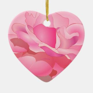 Custom Rose Flower in Pink Ombre Rose Flower gift Ornamento Para Arbol De Navidad
