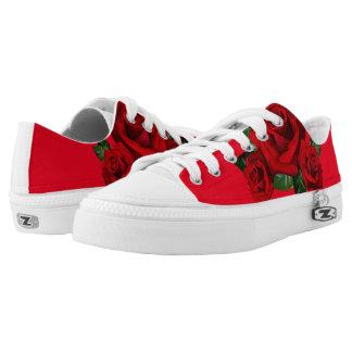 Custom Rose Shoes, Men / Women Printed Shoes