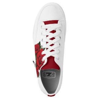 Custom Rose Shoes, Men/ Women Printed Shoes