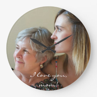 Custom Round Wall Clock For Mom From Daughter
