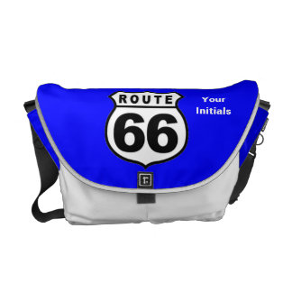 Custom ROUTE 66 RICKSHAW MESSENGER BOOK BAG Courier Bags