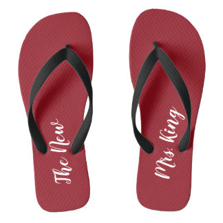 Custom Ruby Red Honeymoon The New Mrs. Flip Flops
