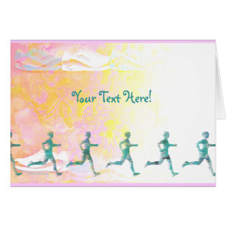 Custom Running Track Coach Card