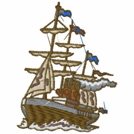 Custom Sailing Ship Embroidered Shirt