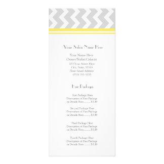 Custom Salon Rack Cards Yellow Grey Chevron