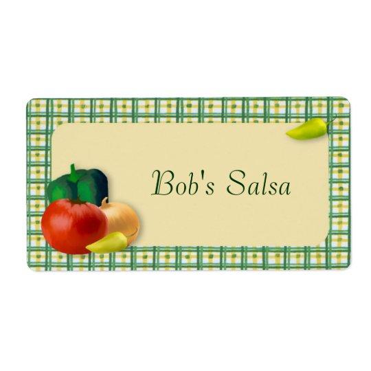 Custom Salsa Label