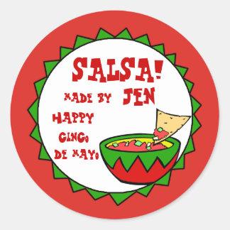 Custom Salsa Labels for Homemade Salsa