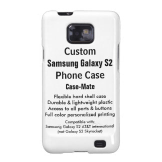 Custom Samsung Galaxy S2 Barely There Phone Case Galaxy SII Covers
