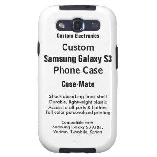 Custom Samsung Galaxy S3 Tough Phone Case Galaxy SIII Case