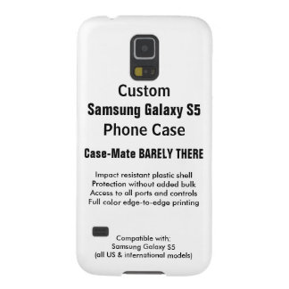 Custom Samsung Galaxy S5 Barely There Phone Case Cases For Galaxy S5