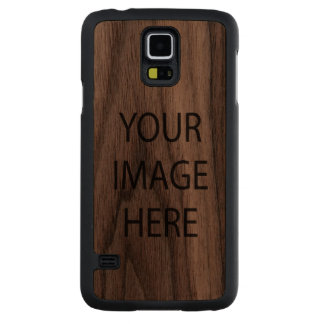 Custom Samsung Galaxy S5 Slim Walnut Wood Case