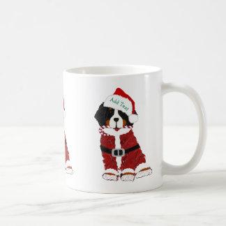 Custom Santa Bernese Mountain Holiday Dog Coffee Mug