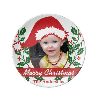 Custom Santa Hat to Personalize Plate