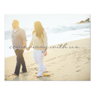 Custom Save the Date 11 Cm X 14 Cm Invitation Card