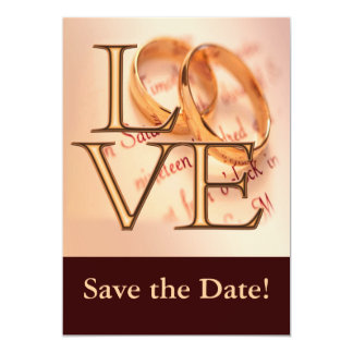 Custom Save the Date Cards, Edit Online 13 Cm X 18 Cm Invitation Card